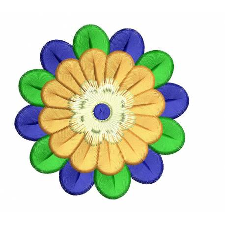 Colorful Flower Embroidery Design