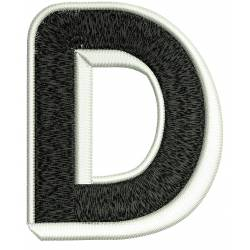 Jumbo Filled Alphabet D