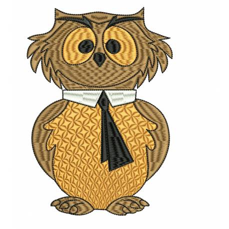 Filled OWL Outline Embroidery Design
