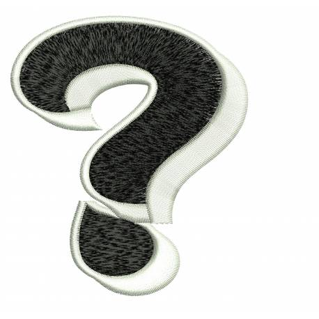 Jumbo Filled Question Mark?