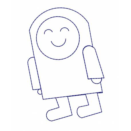 Baby Astronaut Outline Design