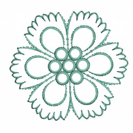 Flower Outline Freebie For Embroidery Machine