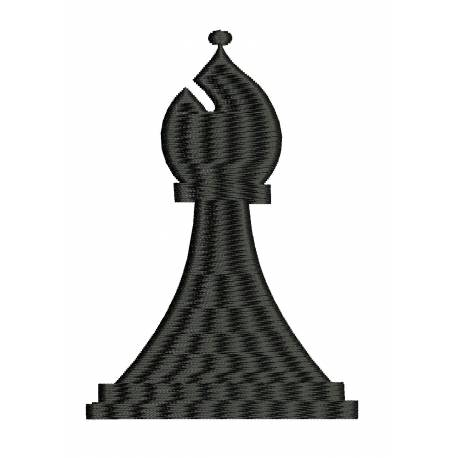 Bishop Chess Game Embroidery