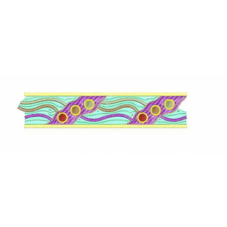 New Colored Zigzag Embroidery Border Design