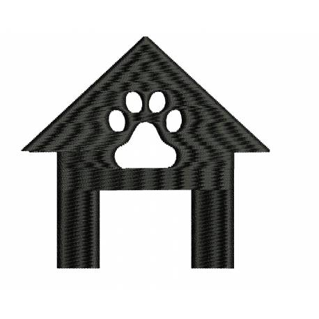 Dog House Silhouette Design