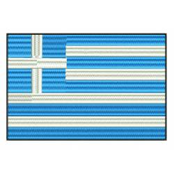Greece Flag Embroidery Design