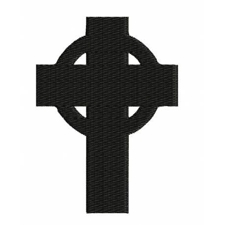 Simple Celtic Cross Embroidery Design
