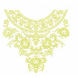 Outline Neckline Embroidery Design