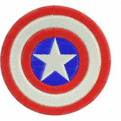 Captain America's Shield Embroidery Design