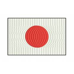 Japan National Flag Embroidery Design_Embroideryshristi