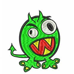 Angry Monster Embroidery Design