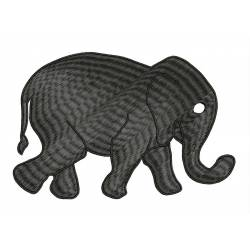 Silhouette Elephant Embroidery Design