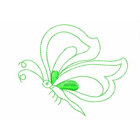 Outline Butterfly Embroidery Design