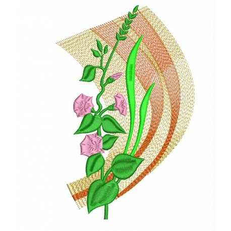 Poster Pattern Floral Machine Embroidery_Embroideryshristi