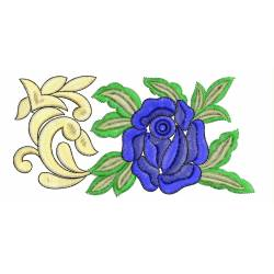Blue Rose Embroidery Border Design