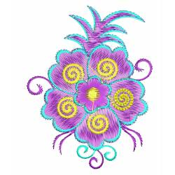 Latest Floral Machine Embroidery Design