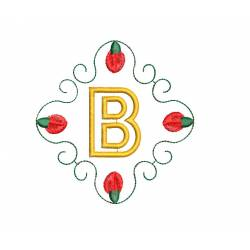 Christmas Monogram Alphabet B