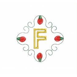 Christmas Monogram Alphabet F