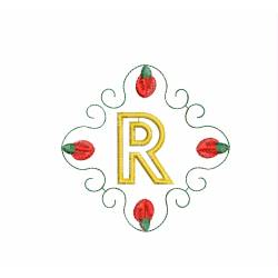 Christmas Monogram Alphabet R