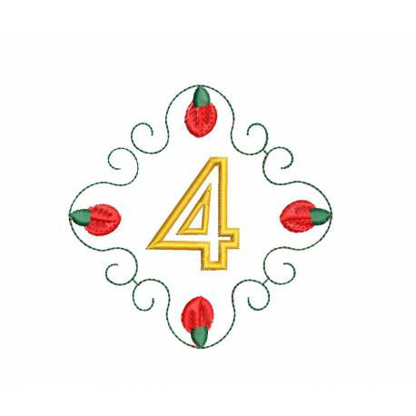Christmas Monogram Number 4
