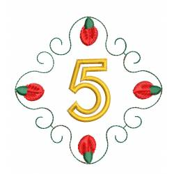 Christmas Monogram Number 5