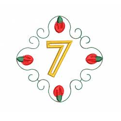 Christmas Monogram Number 7