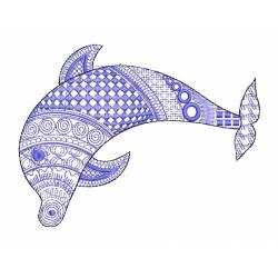 Mehndi Dolphin Embroidery Design