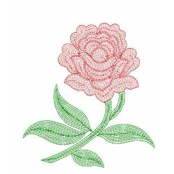 Line Art Rose Embroidery Design