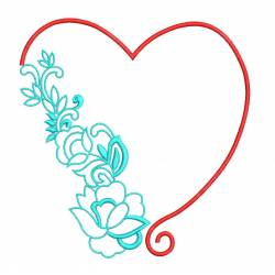 Beautiful Heart Outline Machine Embroidery