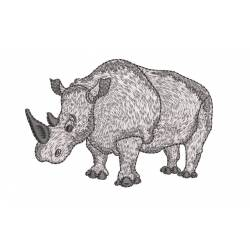 Rhino Animal EmbroideryShristi Design