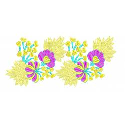 Yellow Border Machine Embroidery design