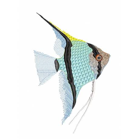 Angel Fish Machine Embroidery Design