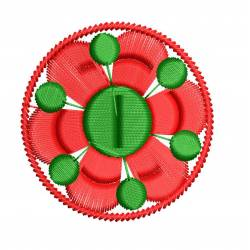Small 2x2 Circle Flora Embroidery Design