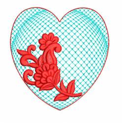 Flora In Heart Machine Embroidery Design