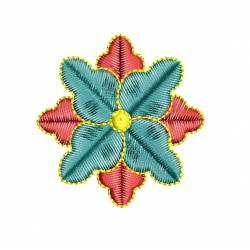 2x2 Floral Machine Embroidery Design
