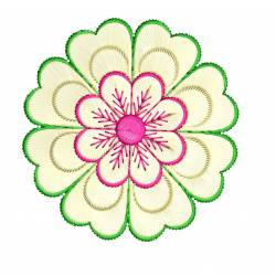 Beautiful Floral Machine Embroidery Design