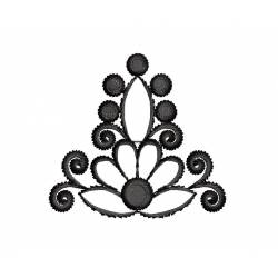2x2 Outline Flora Embroidery Design