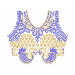Flat Neckline With Border Embroidery Designs Set