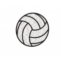 2X2 Filled Volleyball Embroidery Design