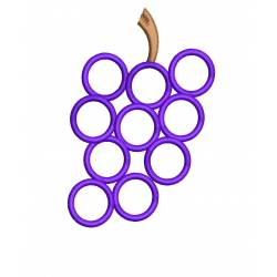 Grapes Outline Machine Embroidery