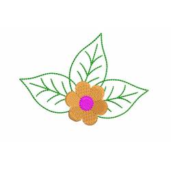Flower Leaves Embroidery Design