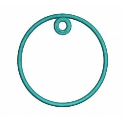 Circle Frame Hoop For Keychain Embroidery