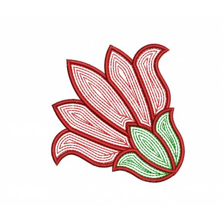 Blooming Flower Machine Embroidery