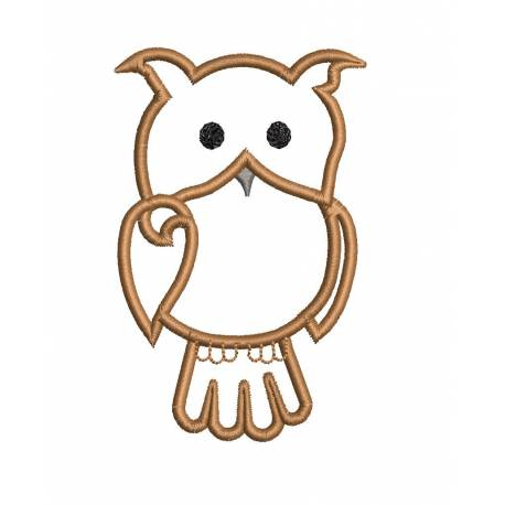 Owl Outline Machine Embroidery Design