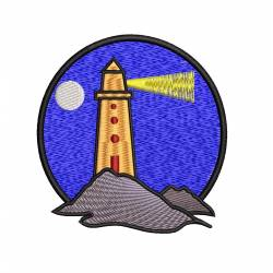 Lighthouse Machine Embroidery Patch