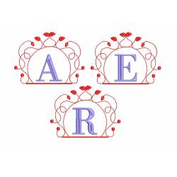 All Alphabets With Monogram Frame Embroiderys Set